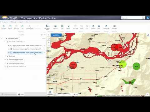 British Columbia Conservation Data Centre (CDC) iMap Application Tutorial