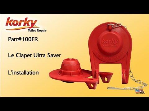 L'installation du Clapet Ultra Flapper de Korky