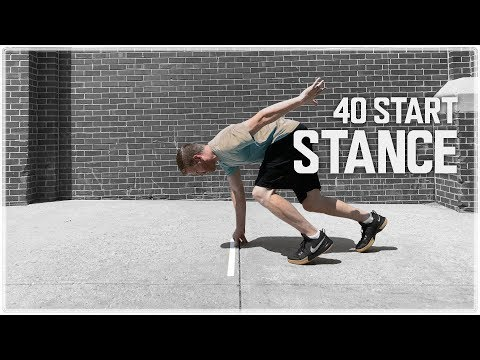 40 Start Stance | Improve Your Acceleration for the 40 Yard Dash