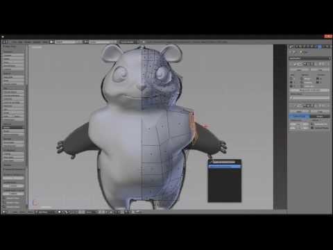 Panda Blender Modeling Timelapse