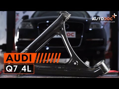 How to replace rear lower control arm Audi Q7 4L TUTORIAL   AUTODOC