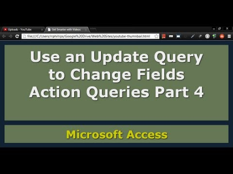 How to build an update query in access 2010 -
