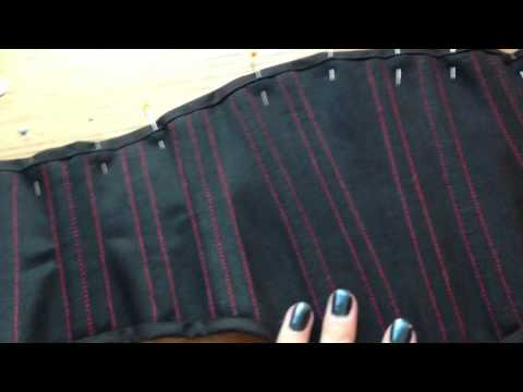 Today I'll Be Mostly Sewing - A Corset Belt - Here It Is With Half Finished Bias Binding