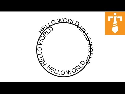 Illustrator Tutorial : Type on a path tool (text around circle)