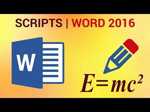 How to Create Subscripts and Superscripts in Word 2016