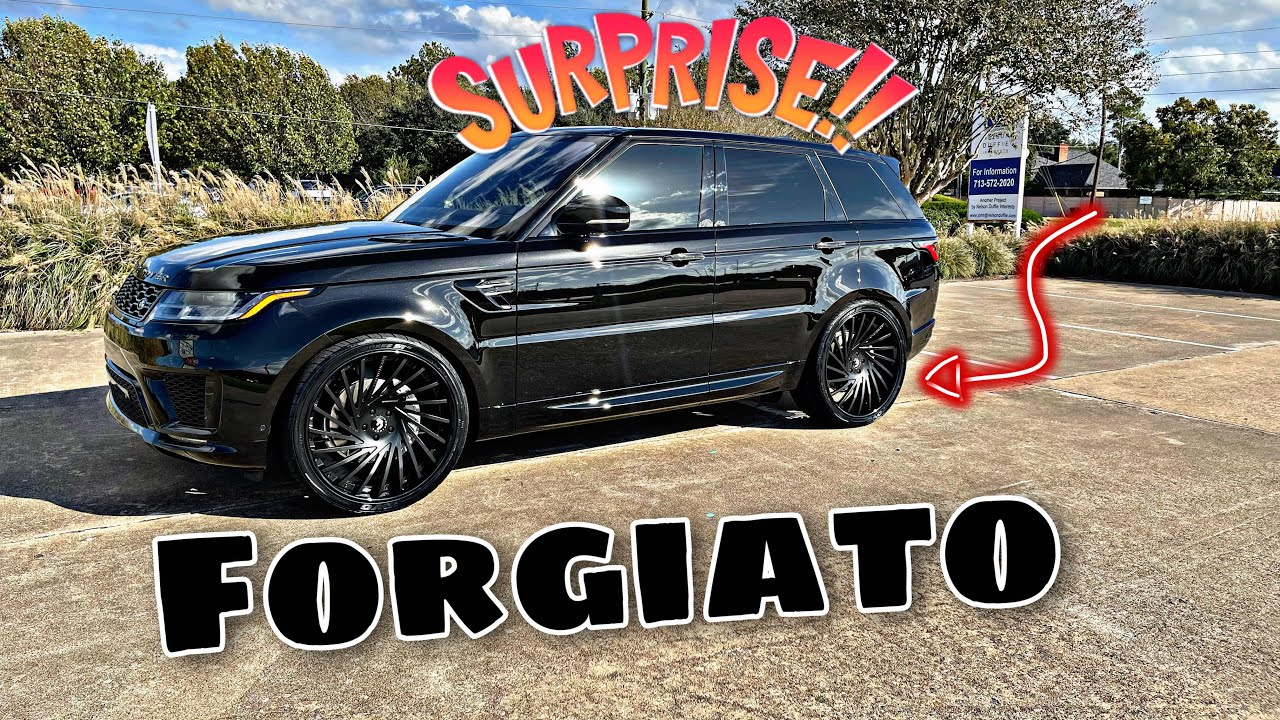 Surprised my wife with Forgiato's for her 2021 RANGE ROVER