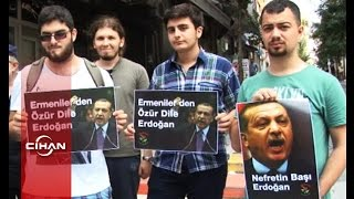 Ermeniler, Başbakan Erdoğan'ı protesto etti