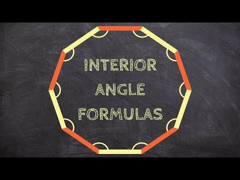 What is the different formulas for interior angles of a polygon