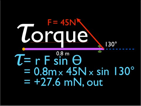 Physics, Torque  (4 of 12) Force Not at Right Angle to Object