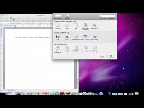 How to setup Autocorrect in Word 2008 for Mac