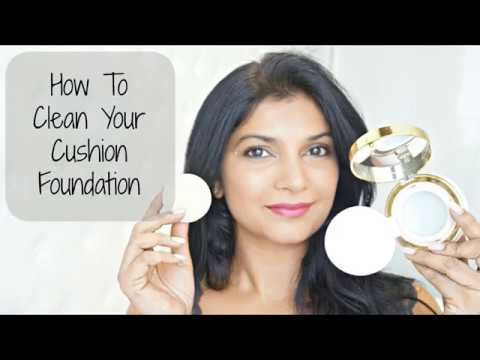 How To Clean A Cushion Foundation Sponge and Air Puff
