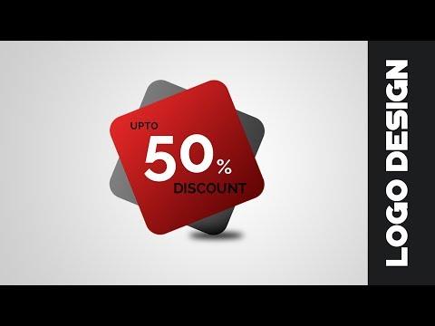 How to design a Sale Badge logo in photoshop cs6  | Logo Design Tutorial | Discount Coupon Design
