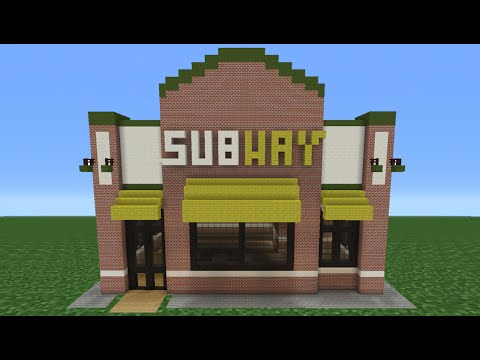 Minecraft Tutorial: How To Make A Subway (Restaurant)