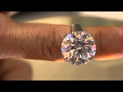 Diamond Forever Jewelry 10 carat round cut solitaire enhanced diamond engagement ring