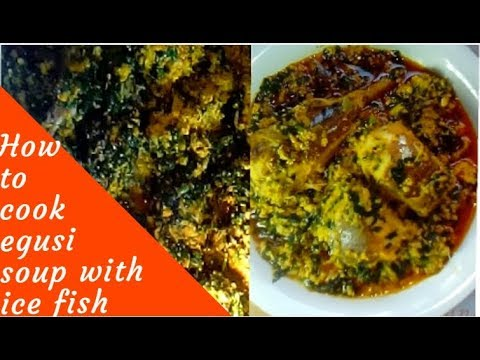 THICK LUMPY EGUSI SOUP WITH UGU LEAVES & FISH (IGBO FRYING METHOD)
