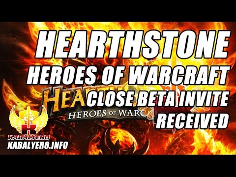 Hearthstone: Heroes Of Warcraft Close Beta Invite Received
