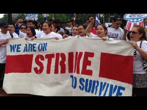 Federal Workers Storm the Capitol for Higher Wages