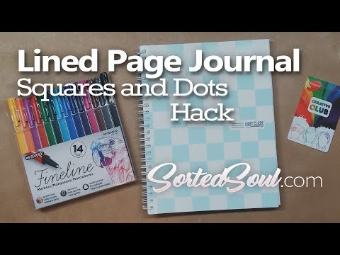 Journaling Trick: Squares and Dots Hack - DIY: how to make dotted paper from lined paper no ruler!