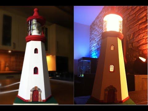 DIY lighthouse lamp