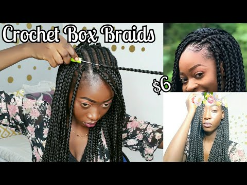 Protect Style || Realistic  Crochet Box Braids In 1 Hour🔥
