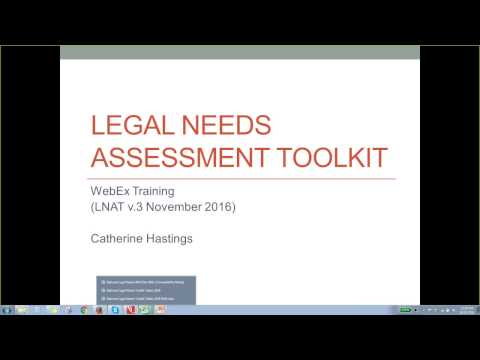 Legal Needs Assessment Toolkit (LNAT) training
