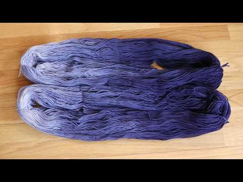 Dip Dyeing a Navy Gradient Using Leftover Liquid Rit Dyes