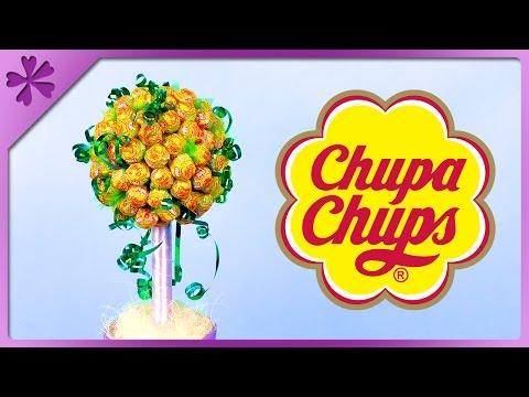 DIY Chupa Chups lollipop tree for Children's Day, birthday (ENG Subtitles) - Speed up #357