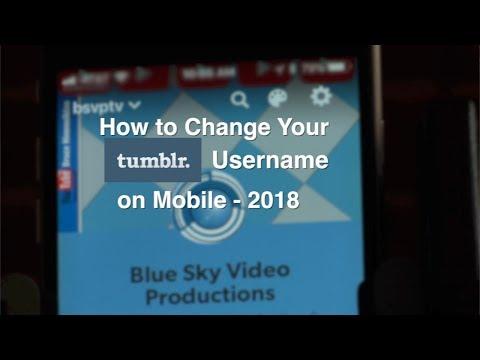 How to Change Tumblr Username on Mobile 2018