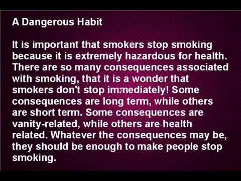 Stop Smoking Once And For All To Avoid The Dangers