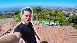 CLIMBING ON TOP OF THE FAZE HOUSE!! (INSANE)