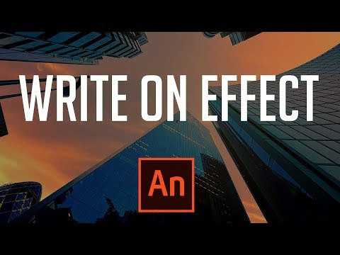 How to Make an Easy Write On Text Effect - Adobe Animate 2019 Tutorial
