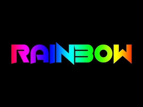 HOW TO MAKE RAINBOW TEXT ANIMATED ON PHOTOSHOP CS6 | TEXT GIF ANIMATED VIDEO TUTORIALS