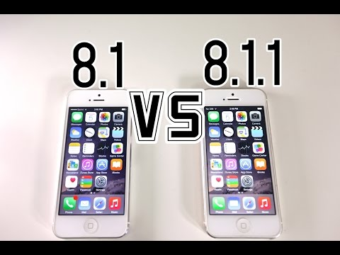iOS 8.1 VS 8.1.1 & iOS 7.1.2 VS 8.1.1 - Is It Faster? + What's New Review