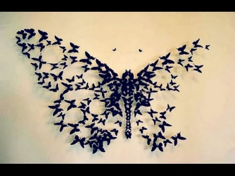 DIY BIG BUTTERFLY Wall Decor | Wall Decor Idea | DiYana