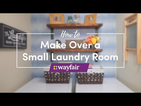 How to Make Over a Small Laundry Room with Traci Hutcherson
