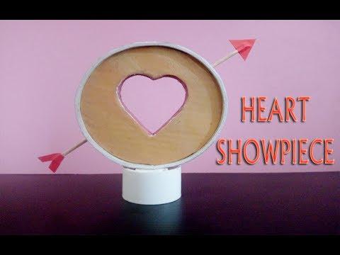 DIY Heart Showpiece | How to Make A Heart Showpiece