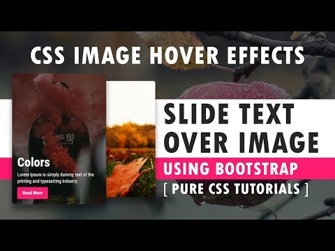 CSS Slide Text Over Image - Css Image Hover Effects Using Bootstrap - Pure CSS3 Hover Effects