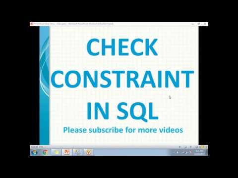 Check Constraints in SQL