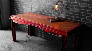 Distressed Industrial Desk | How-to