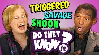 DO ELDERS KNOW MODERN SLANG? | Triggered, Savage, Ghosting (REACT: Do They Know It?)