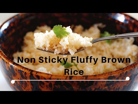 How to make Non Sticky Fluffy Brown Rice  in Hindi - Brown Rice without Draining Water