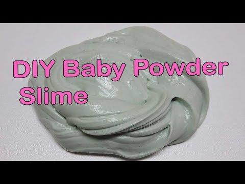 Baby Powder Slime. How To Make Slime with Baby Powder No Glue No Borax!