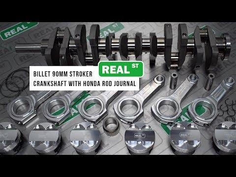3.2L 2JZ-GTE Billet 90mm Stroker Kit w/ Honda Rod Journal - Real Street Performance