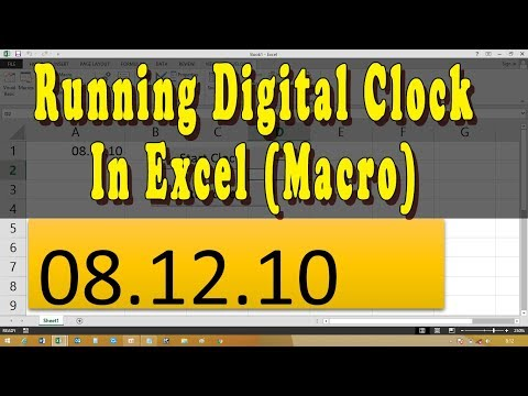How to create digital clock in excel