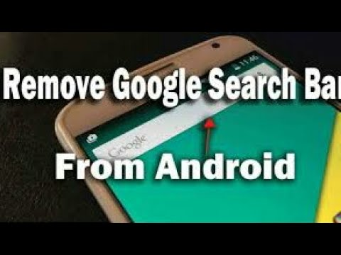 How to Remove Google Search Bar from home screen (2017 latest Android phone Trick)