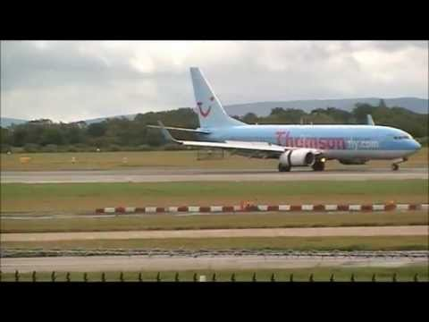 Thomson Airways action at Manchester Airport