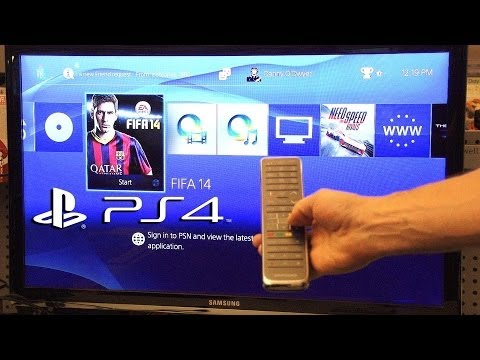 How to use your TV Remote Control on Your PS4