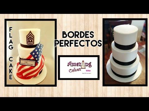 Bordes perfectos /pastel de bandera🇺🇸😎😍