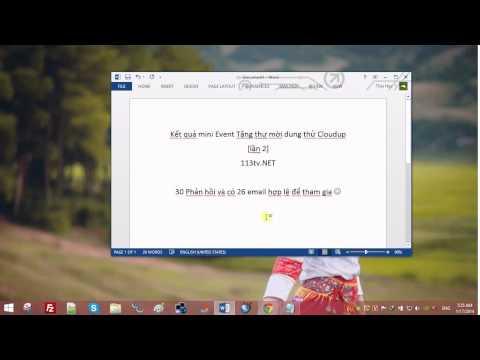 Kết quả Event tặng thư mời Cloudup (Lần 2)