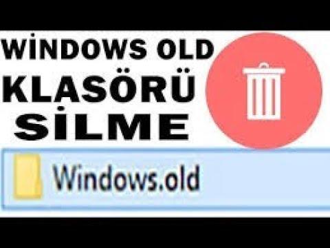 Formatan Sonra Windows Old Nasıl Silinir -programsız - Windows old Klasörü silme- Windows10,9,8,7 xp